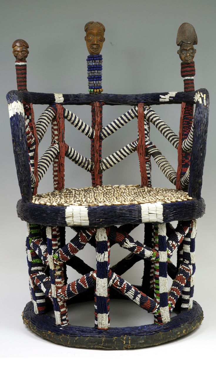 Africa Throne From The Bamum People Of Cameroon Wood And Glass Beads Afrika Afrikanisch Afrikaner
