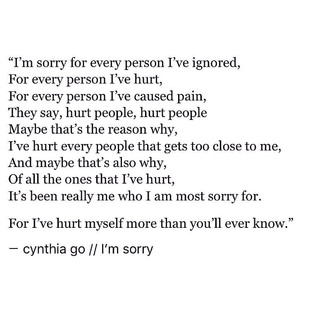 I m sorry