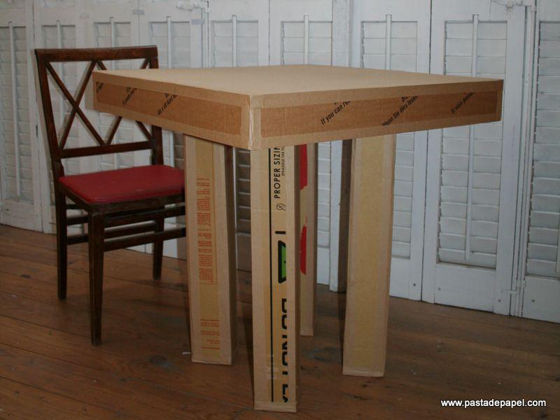 Mesa de cart n ondulado de embalaje de bicicletas - Mesas de carton ...