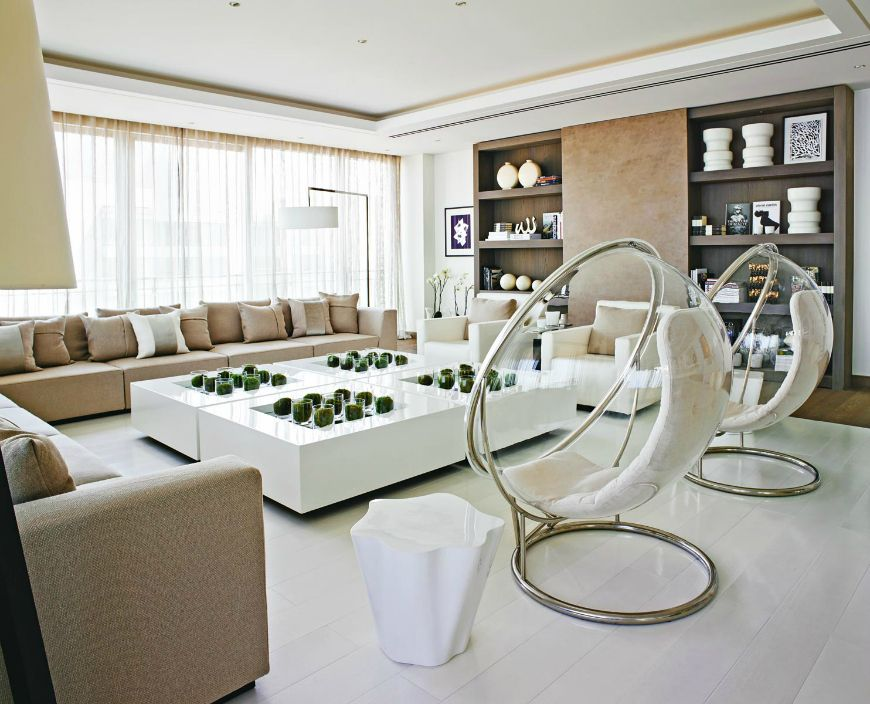 Elegant Neutral Sofas In Living Room Projects