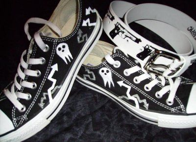 Soul Eater Shinigami-sama Shoes i would wear them so much!