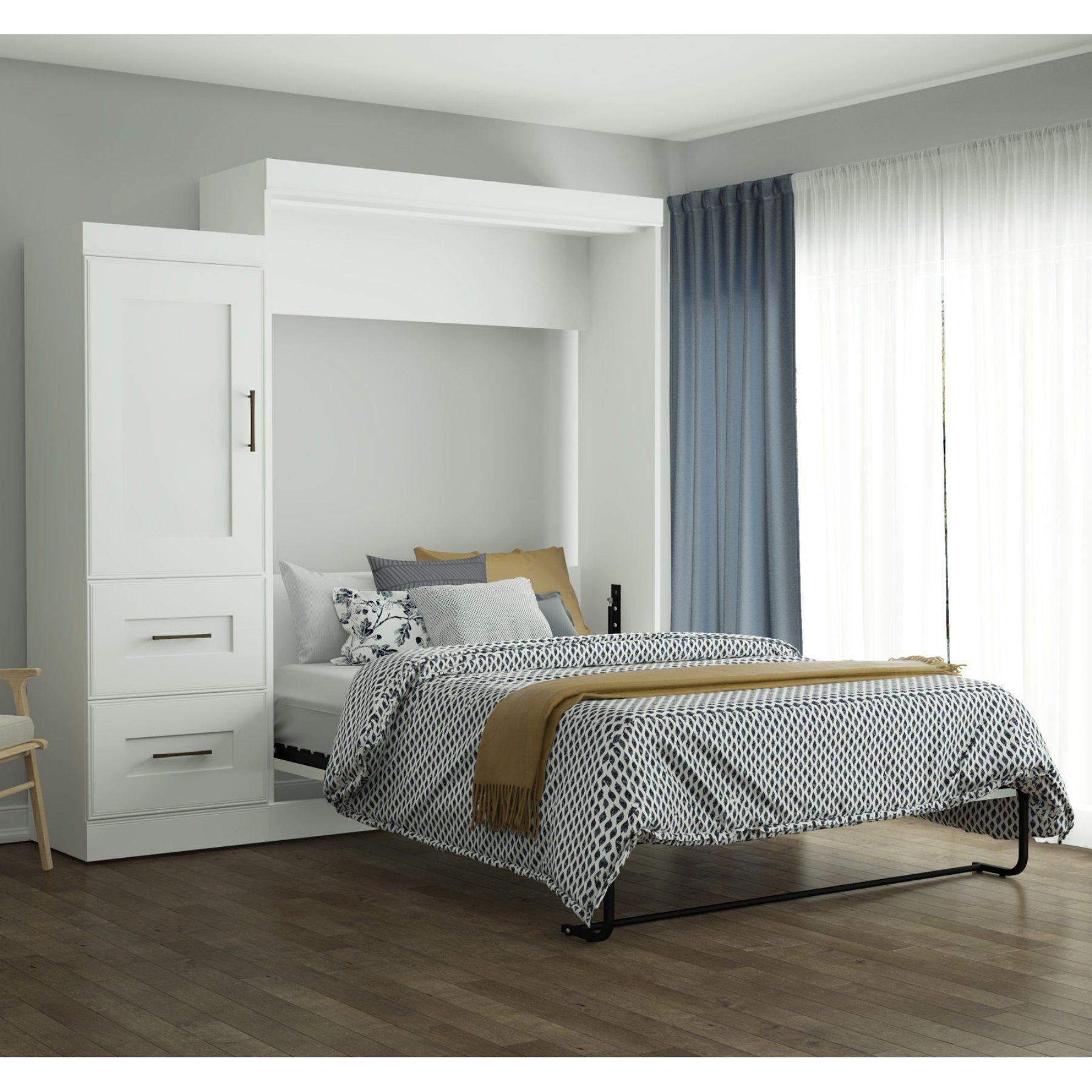 Best Bestar Edge Murphy Bed With 2 Drawer Storage Unit Queen 640 x 480