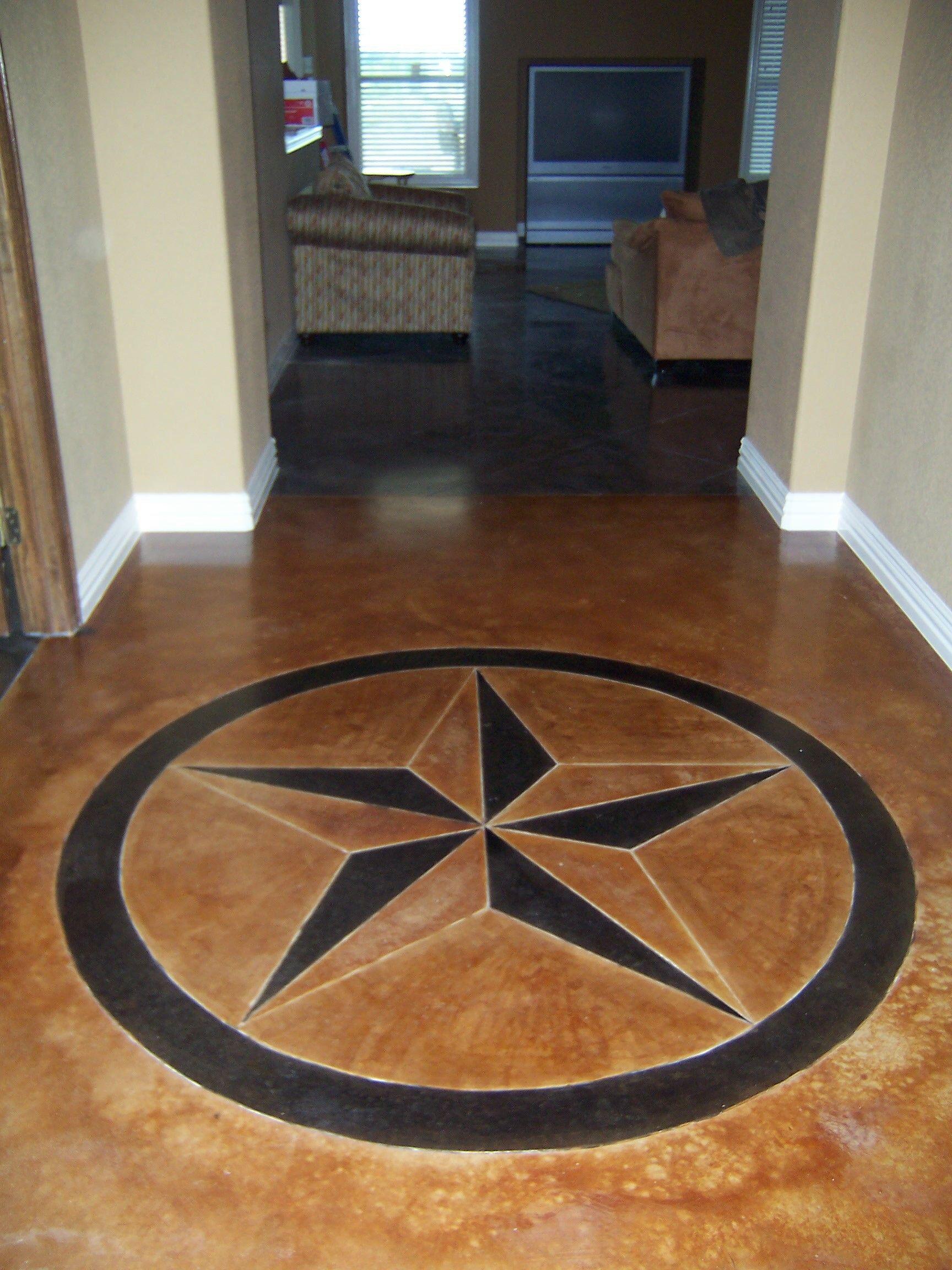 flooring custom floor stained concrete