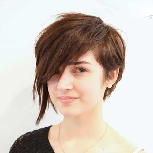 Asymmetrical Pixie Cut For Round Face Cute Hair Short Hair