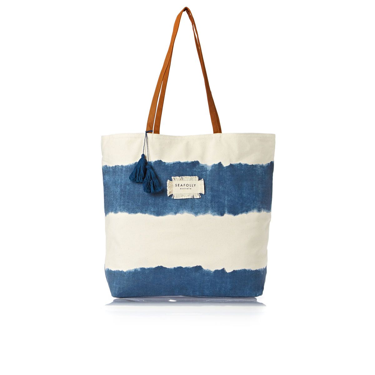 Seafolly Indian Summer Tote Beach Bag - Denim | vacation | Pinterest