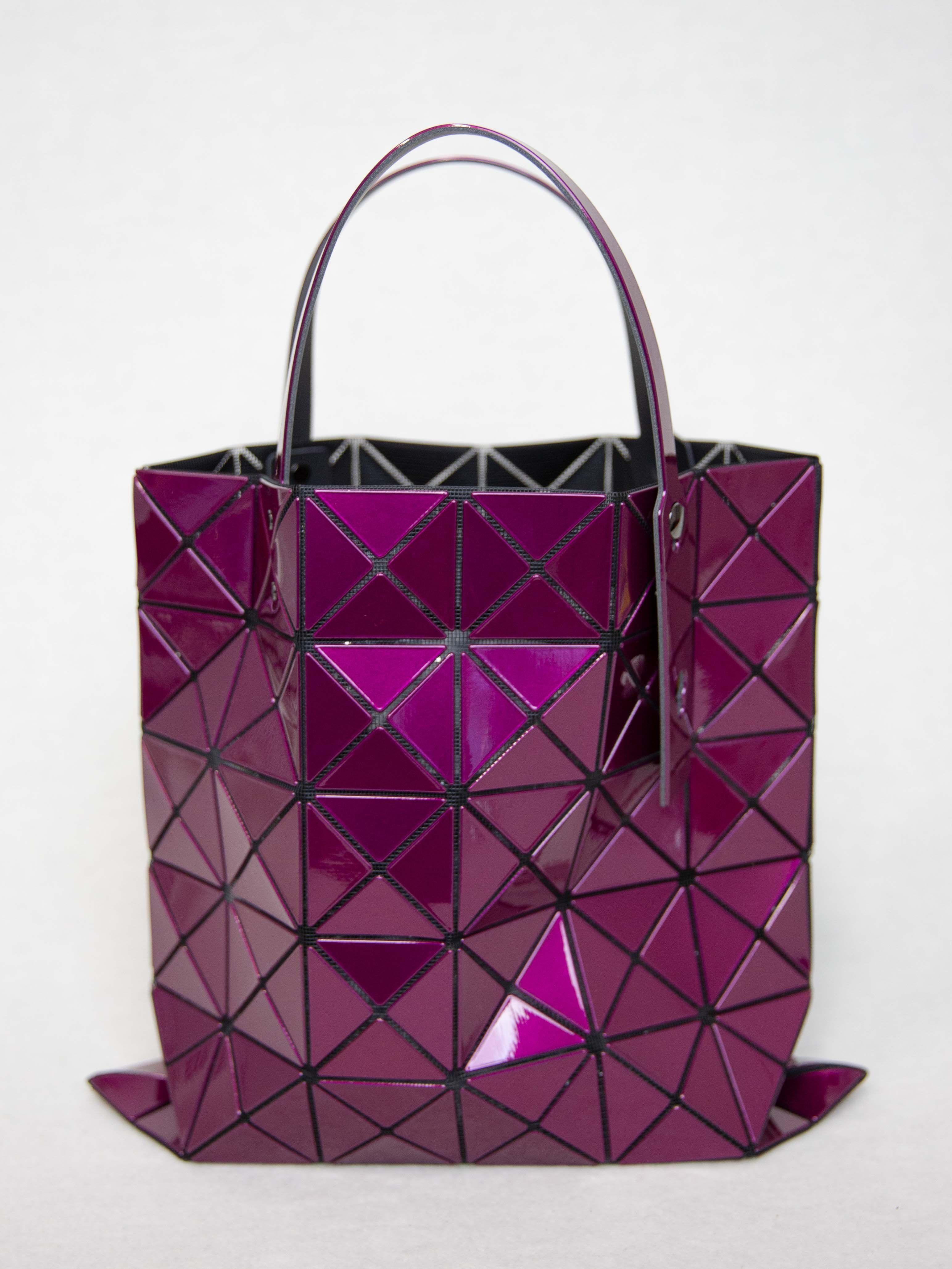 5c8fd6dbbb4c BAO BAO ISSEY MIYAKE Lucent Metallic Tote Bag - Bordeaux
