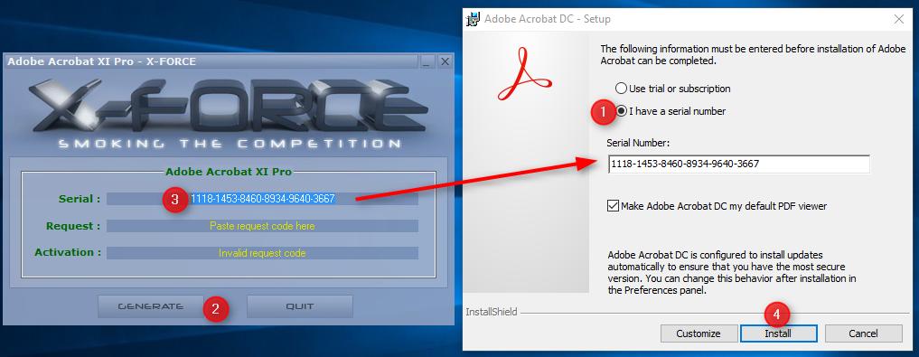 adobe pdf xforce keygen not working