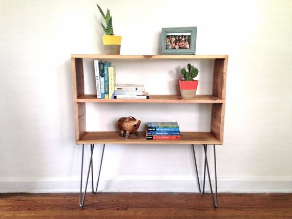 elridge bookshelf reclaimed wood hairpin legs reclaimed wood rh pinterest com