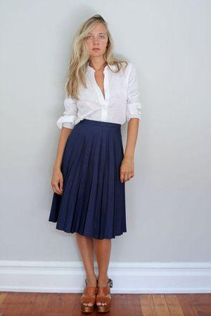 Образы белая рубашка с юбкой