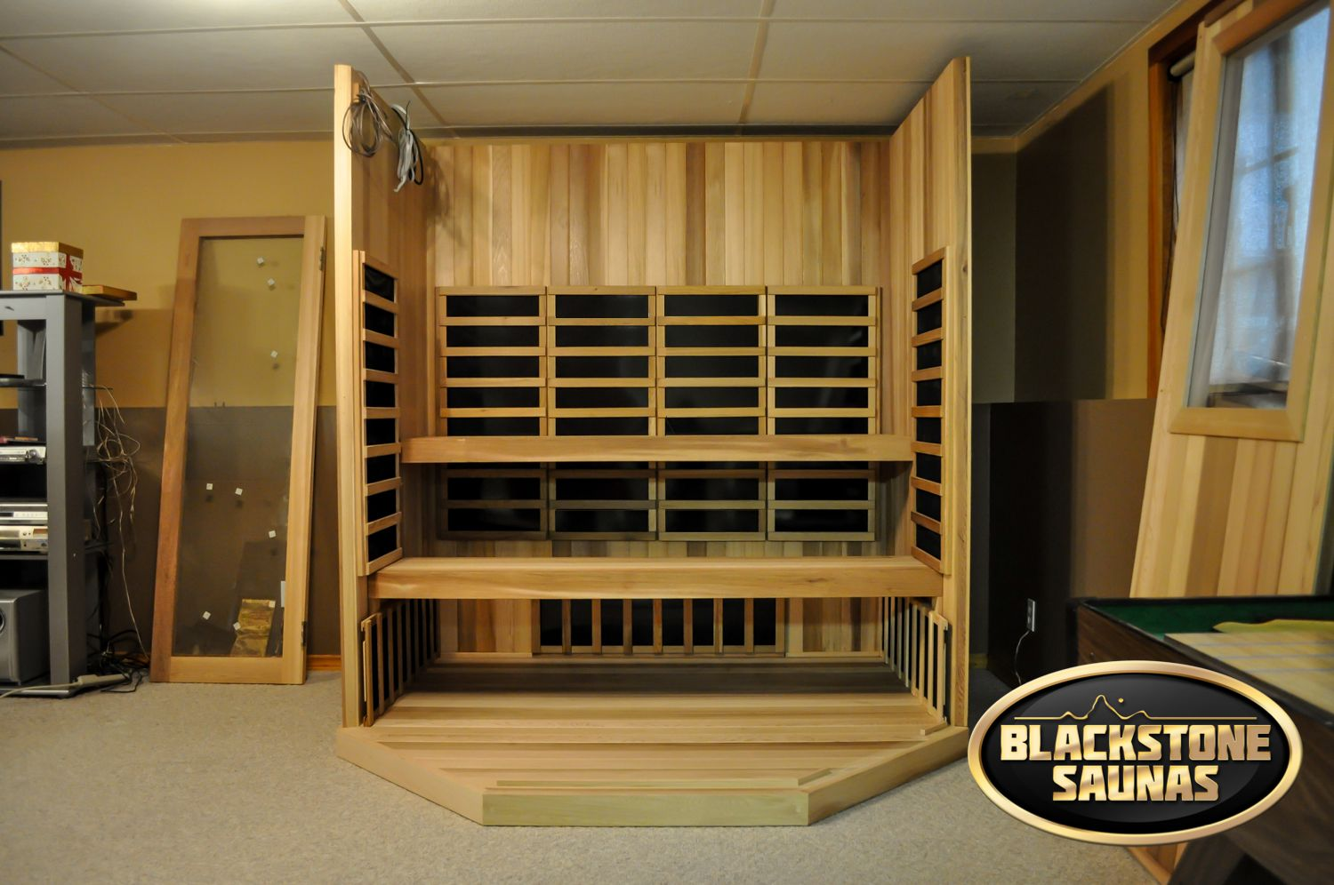 a full inside view of our custom unit built this sauna was rh pinterest ca