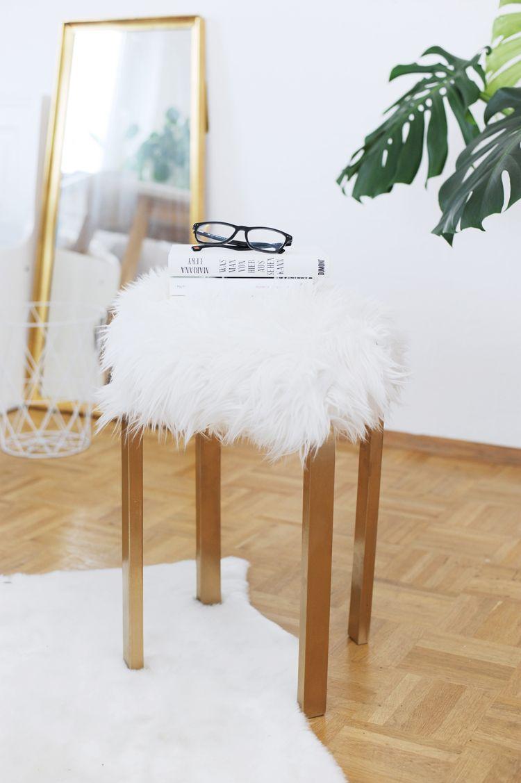 Mobel Selber Machen Aus Einem Ikea Hocker Und Deko Fell Konnt Ihr Schnell