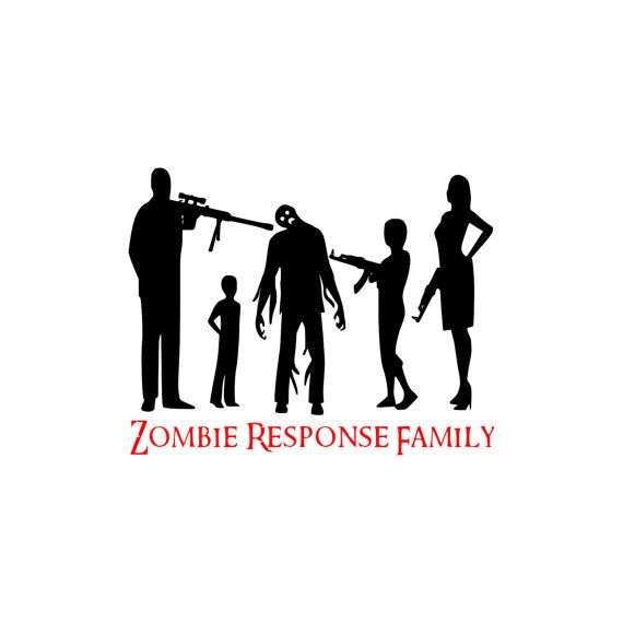Zombie Response Family Car Decal X Custom By NWDecal On Etsy - Family car sticker decalsfamily car decal etsy