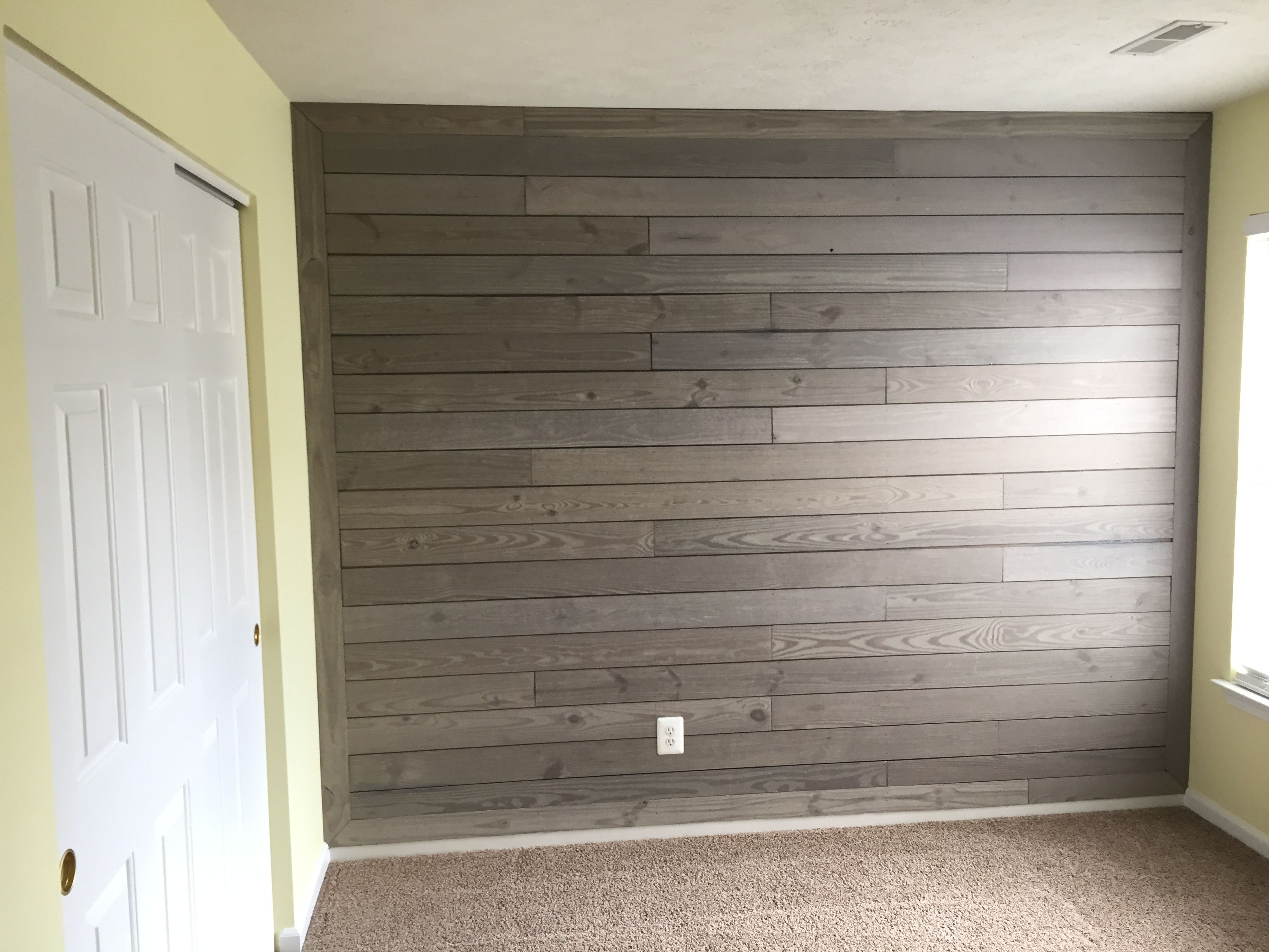 Rustic Silo Pine Wall Plank From Lowes Easy To Install But Many Pieces Are Warped So Be Careful When Picking Out Your Interior Remodel Pine Walls Wall Planks