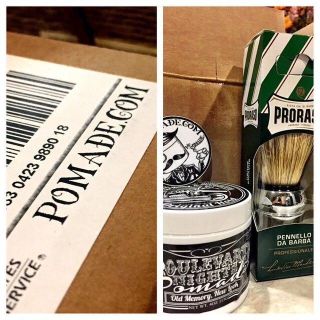 What did you just get in the mail, and what are you already thinking about next? www.pomade.com #mrpomade #pomade #shavebrush #shaveproducts #beard #beardoil #combs #menshair