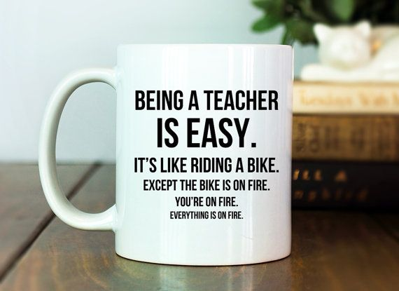 Being a teacher is easy teacher gifts teacher gift teacher teacher mug teacher gift idea being a teacher is easy funny teacher gift funny mug funny gift gag gift funny coffee cup negle Images