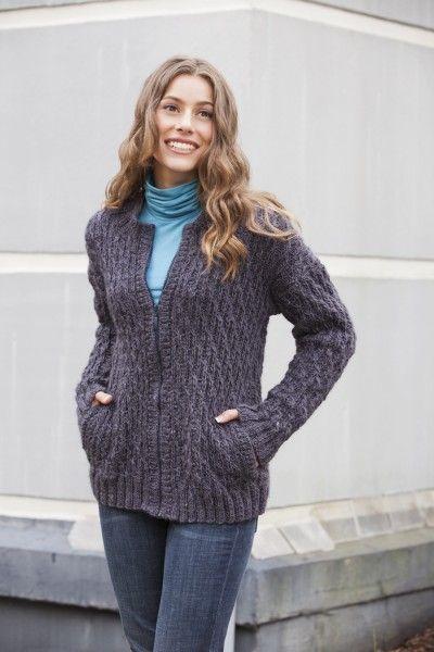Free Universal Yarn Pattern : Roof Tiles Sweater | knitting | Pinterest
