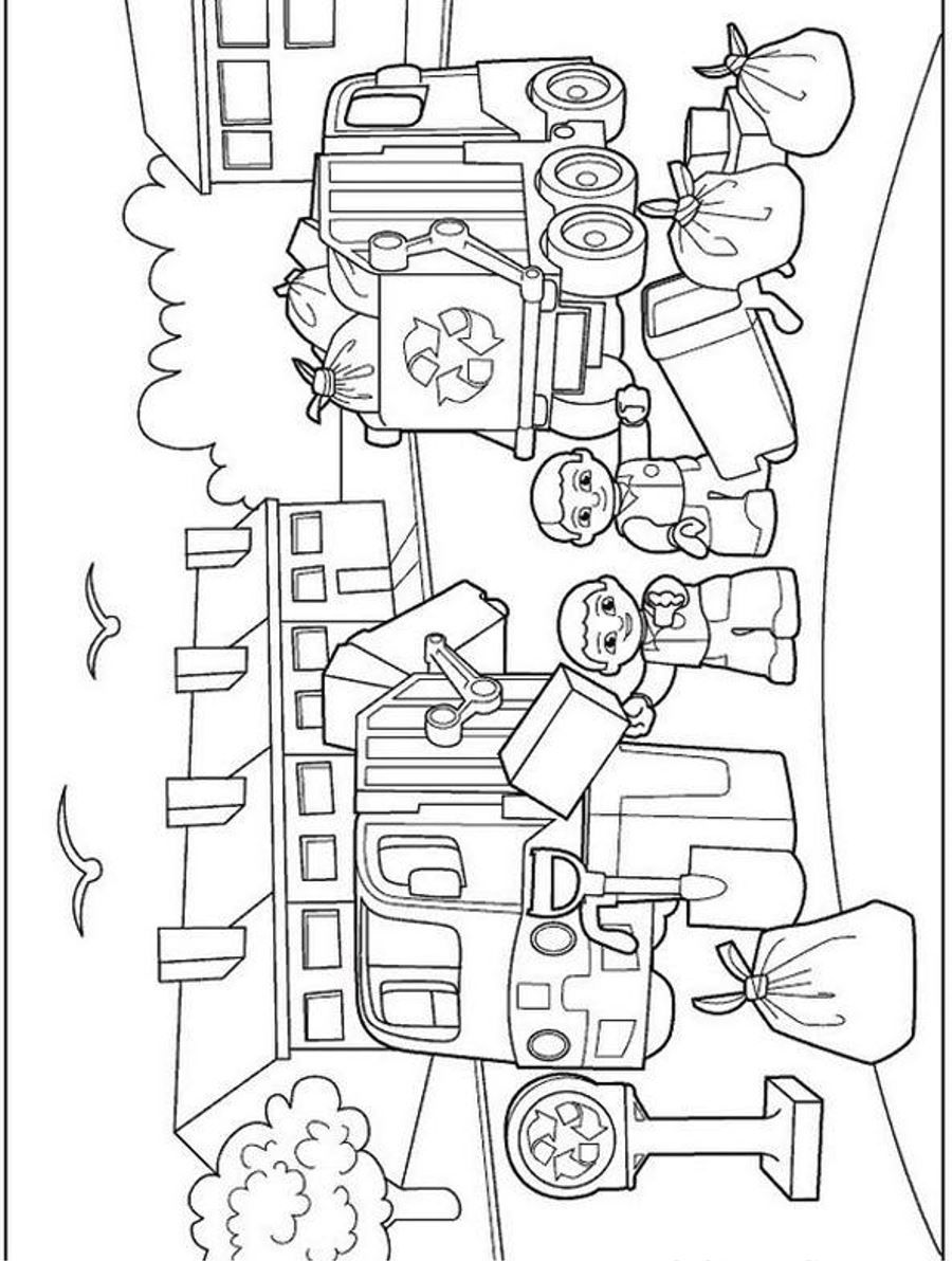 Lego Duplo Free Printable Coloring Page | Coloringplus.com ...