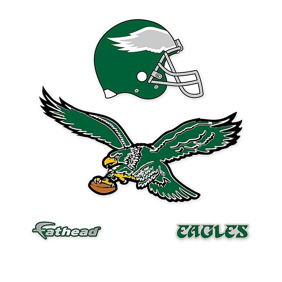fathead nfl philadelphia eagles classic logo large wall on wall logo decal id=55448