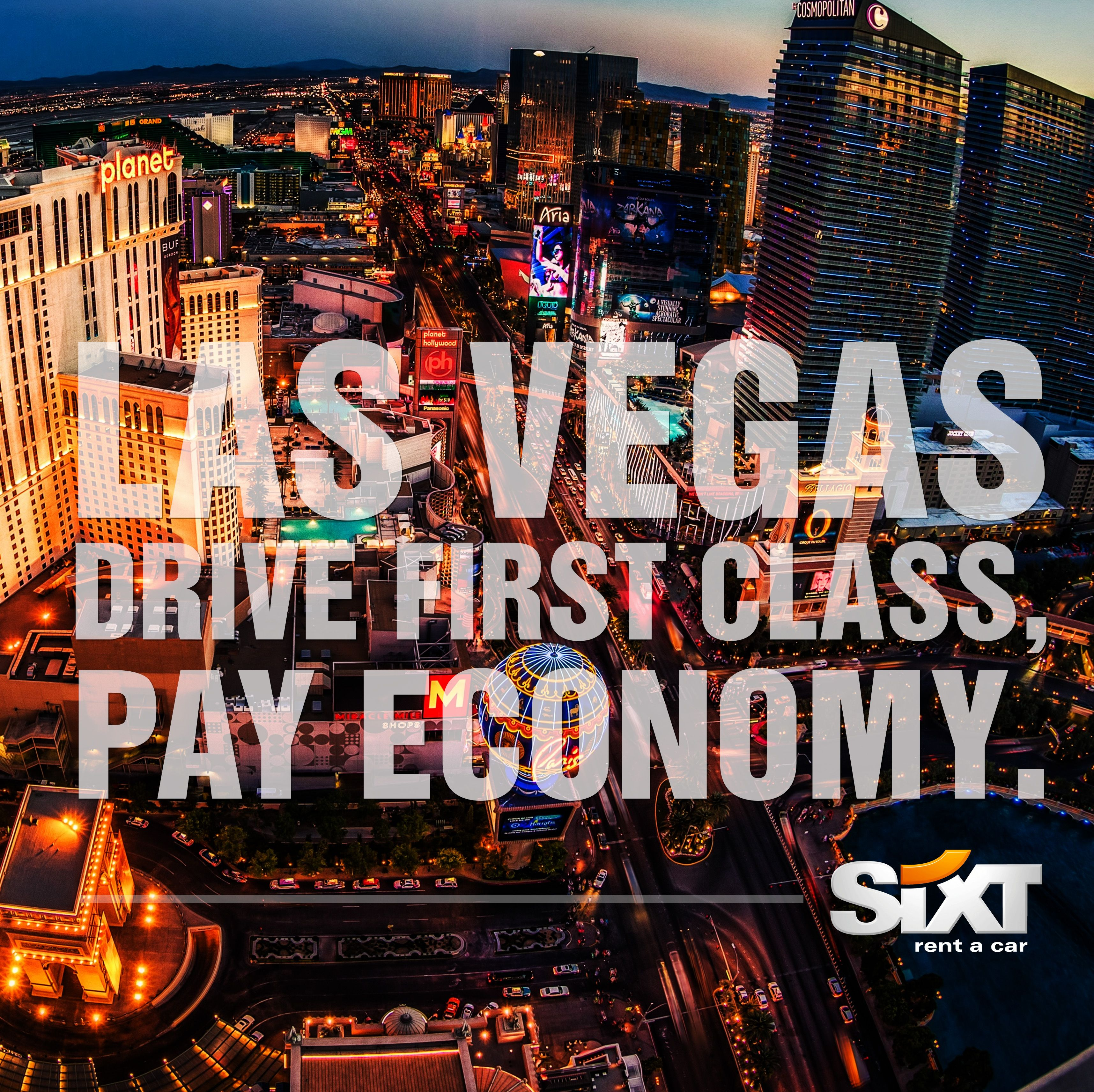 Drive first class, pay economy. Sixt rent a car Las Vegas