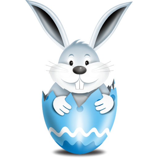 """Bunny In Blue Egg Icon"", comes in 32x32, 64x64, 128x128"