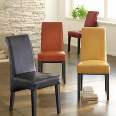 Yellow Orange Leather Dining Room Chairs Google Search