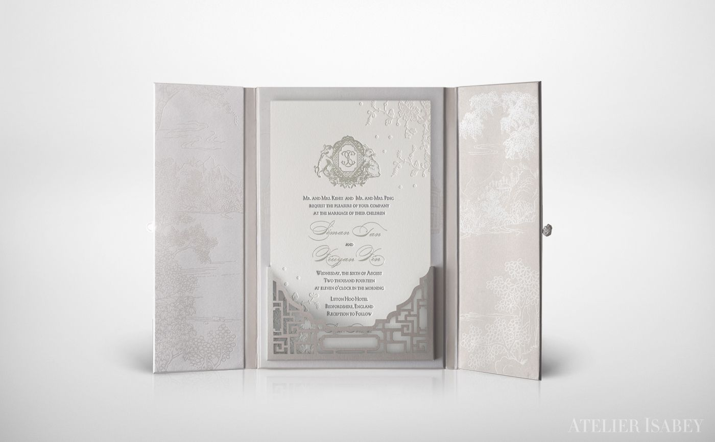 paper style wedding invitations%0A Chinese Qing Dynasty Style Wedding Invitation on Behance