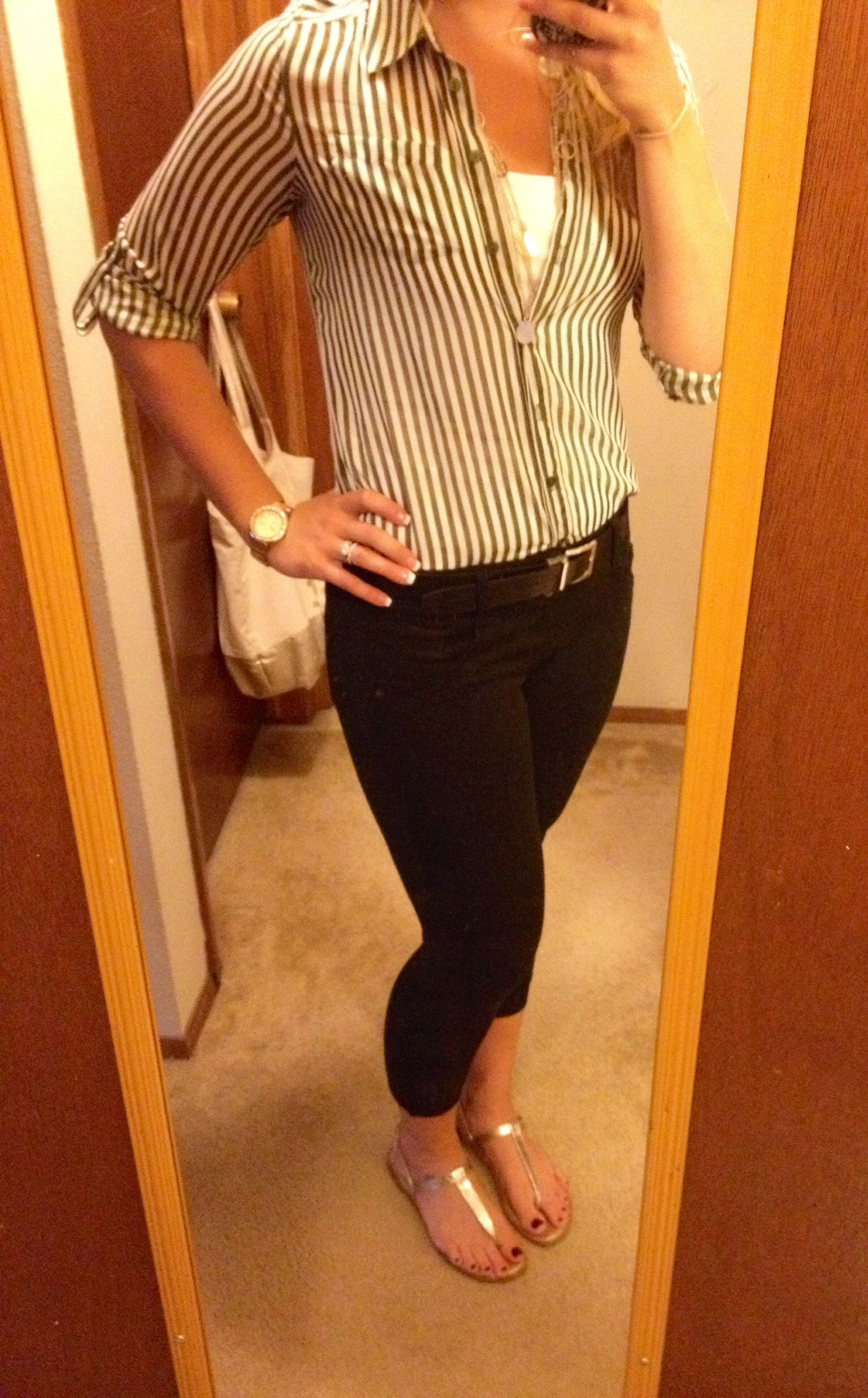 d838bf15030 Business Casual Work Outfit  28 Pants and Shirt- Kohls Shoes- Target Watch-  Fossil Necklace- Charolette Russe