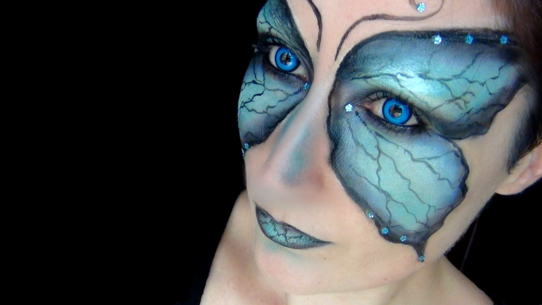 Butterfly fairy makeup tutorial halloween 2013 lentilles de butterfly fairy makeup tutorial halloween 2013 lentilles de baditri Images
