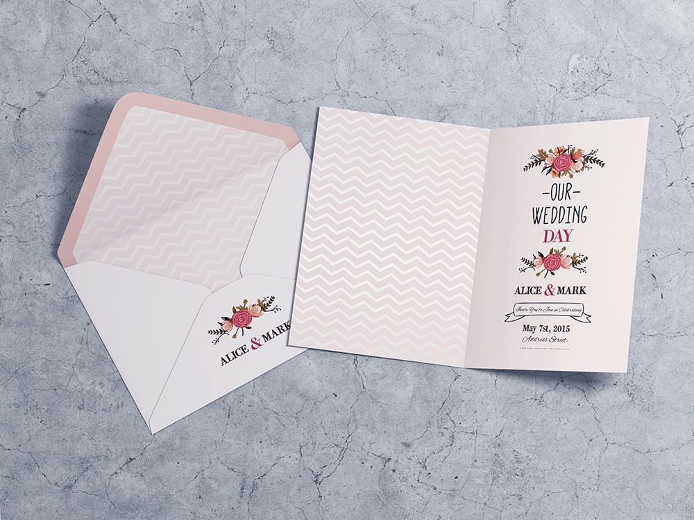 Invitation u0026 Greeting Card MockUp by on