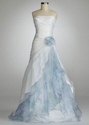 David S Bridal Wedding Dress Organza Split Front Gown With Floral