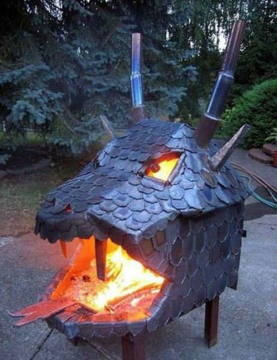this is sooooo cool a dragon chiminea my guy friday pinterest rh pinterest com