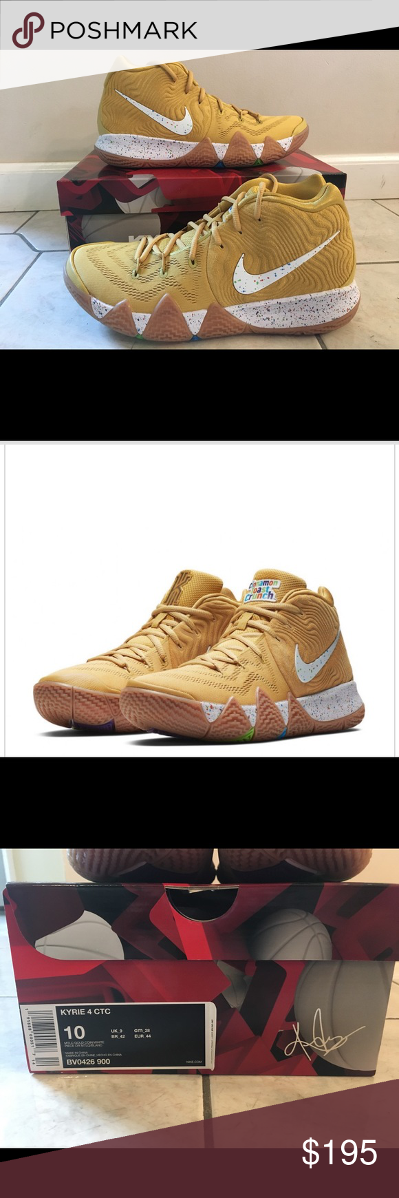 Nike Kyrie 4 Cinnamon Toast Crunch Nike Kyrie 4 Cinnamon Toast Crunch Size: 10 Men's Never Been Worn Nike Shoes Sneakers #cinnamontoastcrunch Nike Kyrie 4 Cinnamon Toast Crunch Nike Kyrie 4 Cinnamon Toast Crunch Size: 10 Men's Never Been Worn Nike Shoes Sneakers #cinnamontoastcrunch