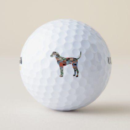 Plott Hound Geometric Pattern Silhouette Plaid Golf Balls | Zazzle.com