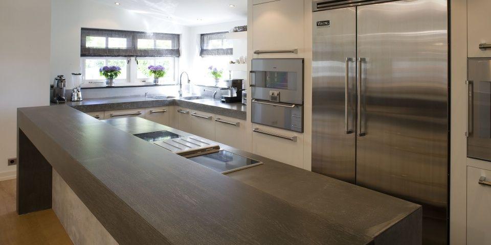 Luxe keuken met bar en houtgeschilderde fronten in zaandam keukens pinterest the o 39 jays - Bar design keuken ...