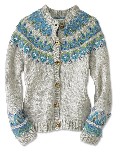 Hand Knit Sweater for Women / Icelandic Fair Isle HandKnit Sweater ...