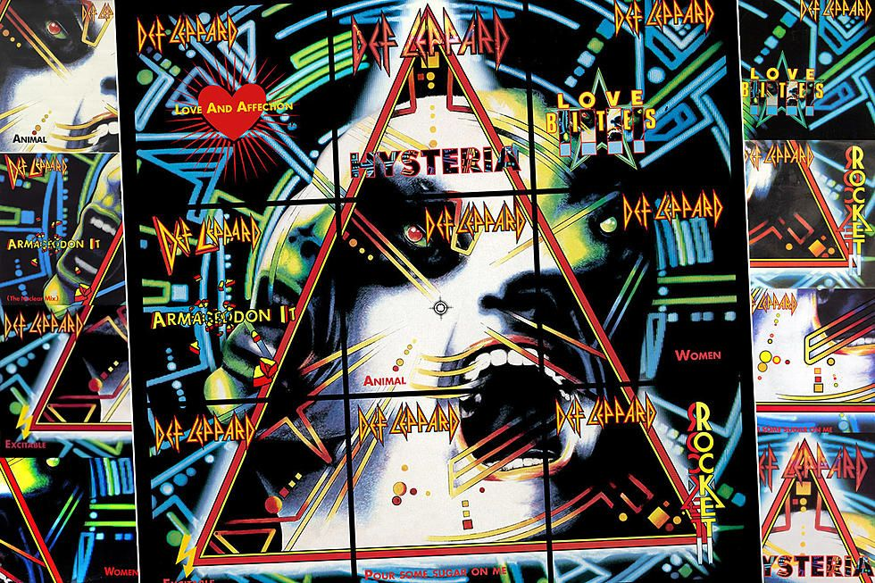 The Awesome Secret Hiding In Def Leppard S Hysteria Singles In 2020 Def Leppard Cover Art Art Base