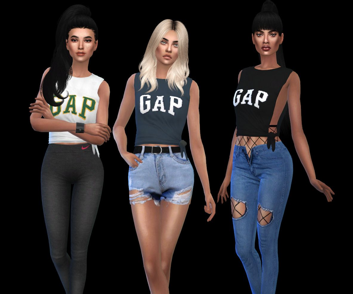 GAP SHIRTS  • 10 color options  • With Shadow Map  • Mesh by Lumy Sims needed HERE  • My models @avelinesims  Download