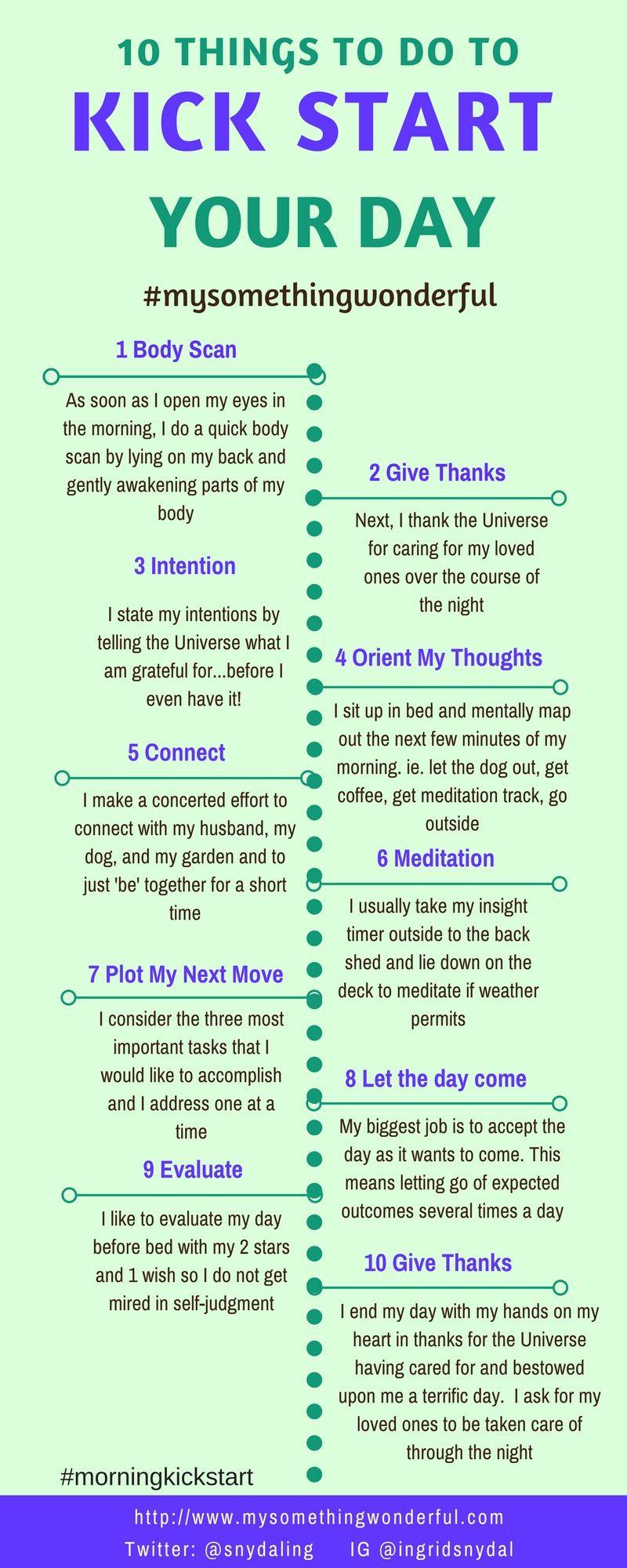 Kick Start Your Day | Positive living, Morning meditation ...