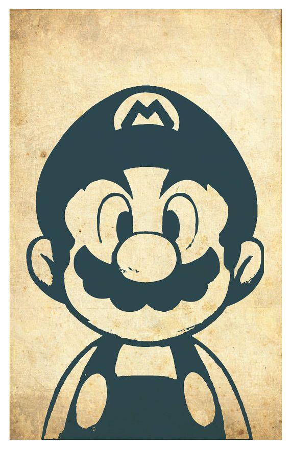 Super Mario Poster Mario And Luigi 11 X17 Mario Art Mario E Luigi Desenhos Do Mario