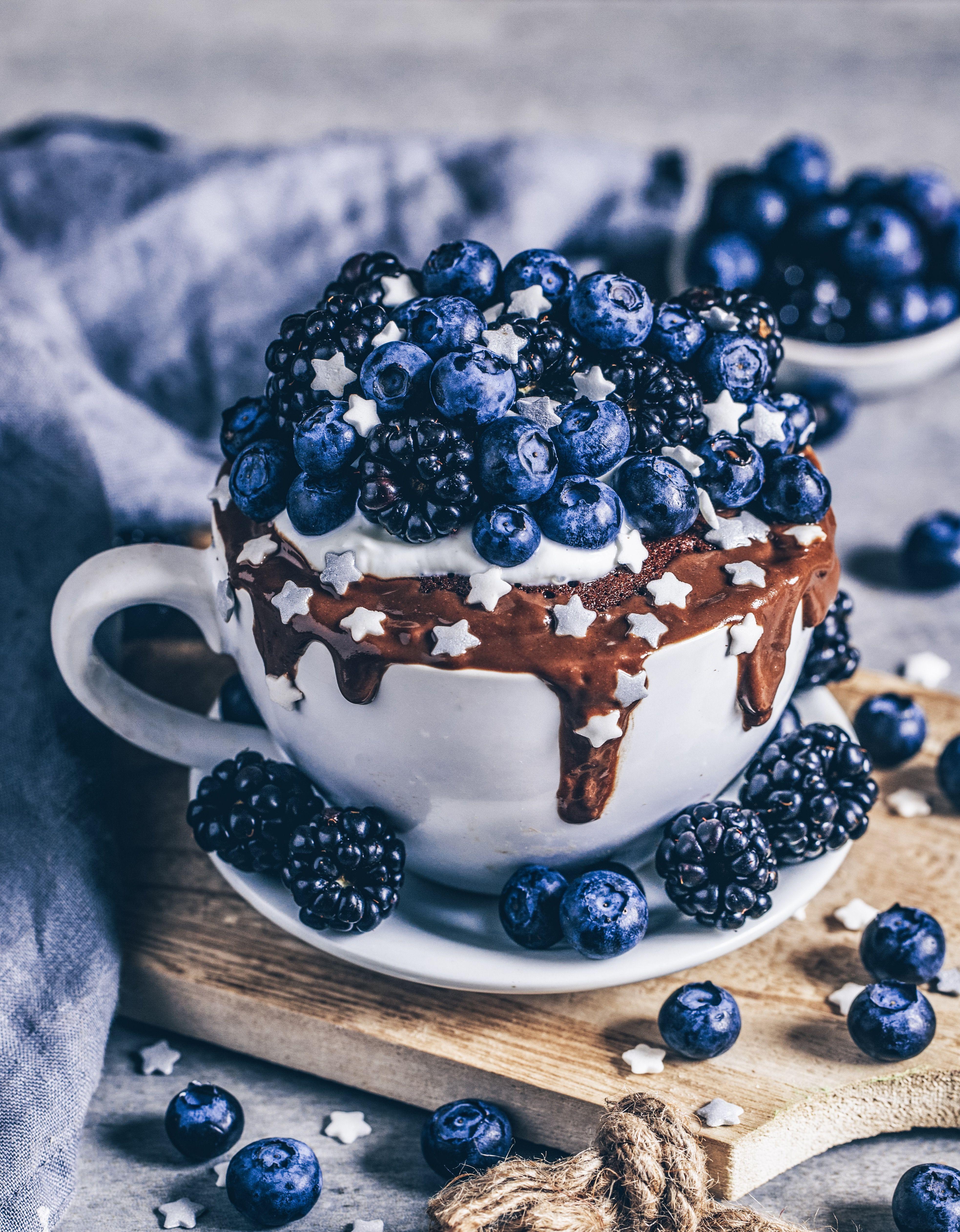 Veganer Schoko Tassenkuchen #nougatglacé