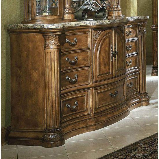 Aico Monte Carlo Bedroom Set Classic Pecan  For The