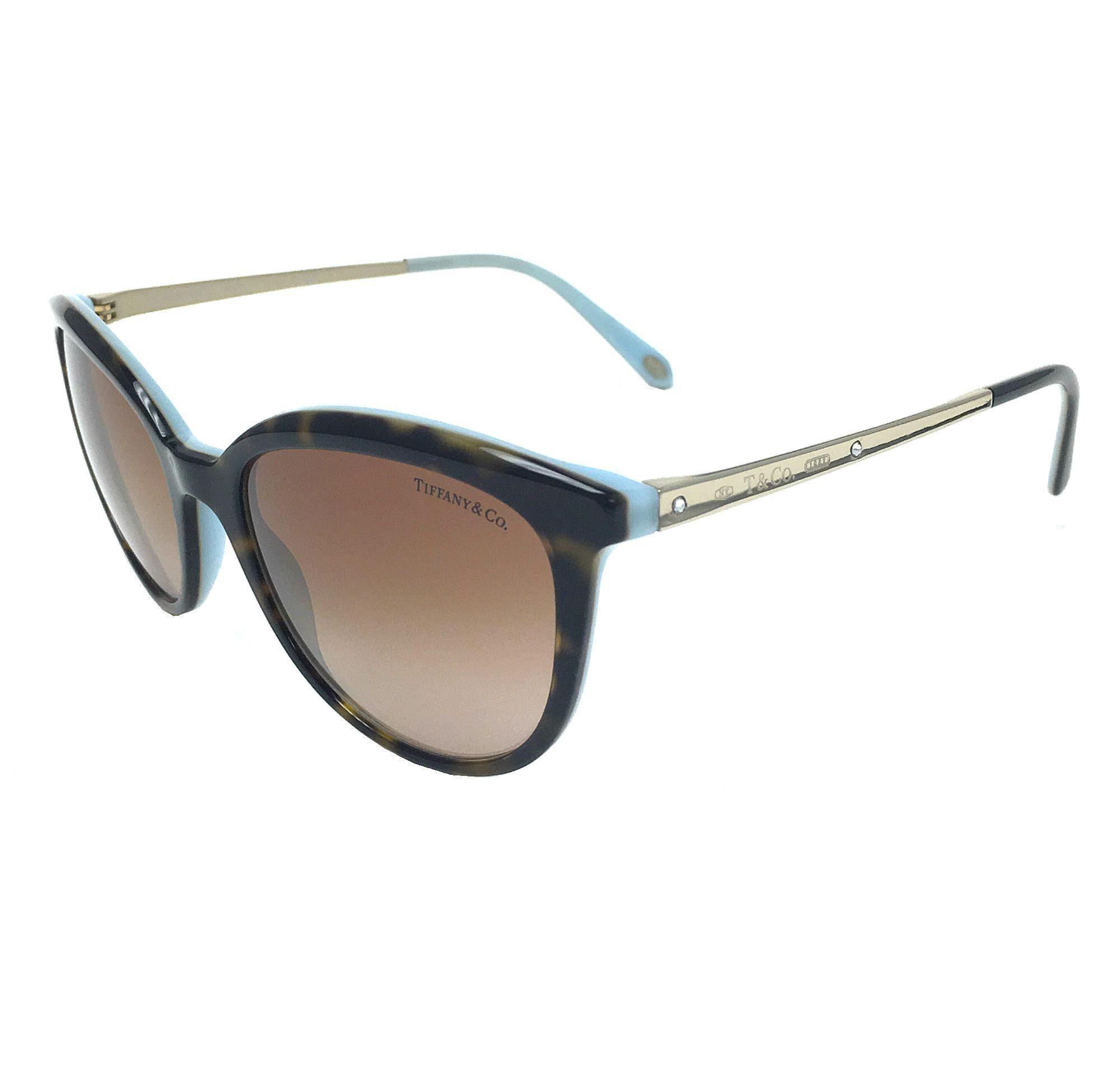 Tiffany TF4117B Sonnenbrille Havanna / Blau 81343B 54mm 4TGN4