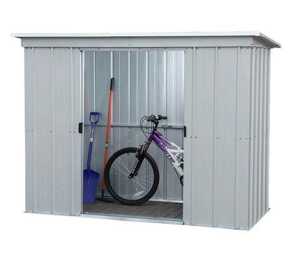 Buy Yardmaster Pent Metal Garden Shed 8 X 4ft Sheds Garden Storage Shed Metal Shed Garden Storage