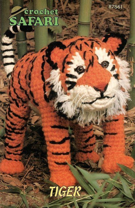 Safari Tiger Crochet Pattern Animal Annies Attic Toy - Dolls & Toys ...