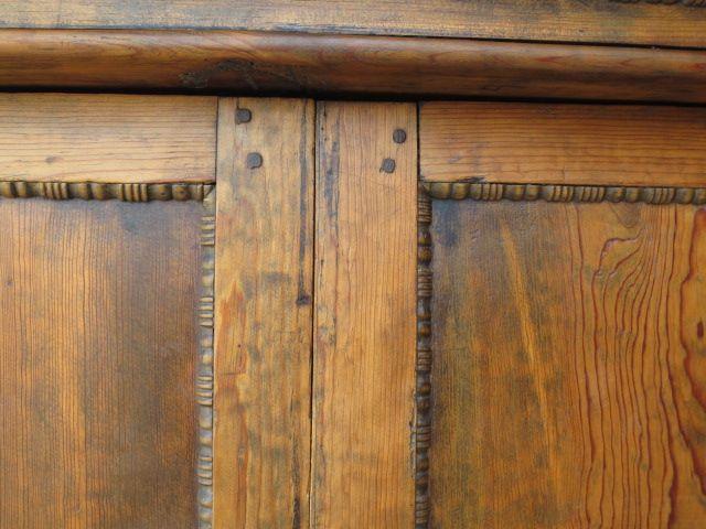This is a charming primitive antique pine armoire / cabinet that dates from  1800-1850 - Primitive Antique Furniture Antique Furniture