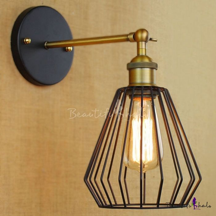 8\'\' High Antique Brass 1 Light Indoor Small LED Wall Sconce | Wall ...
