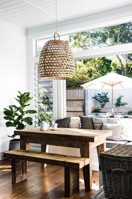 Serene NSW beach house filled with handmade furniture Backyard