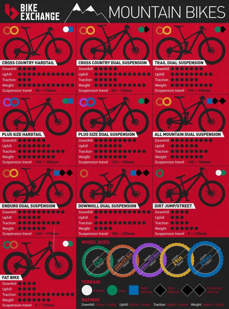 Mountain Bike Types Infographic Bikeexchange