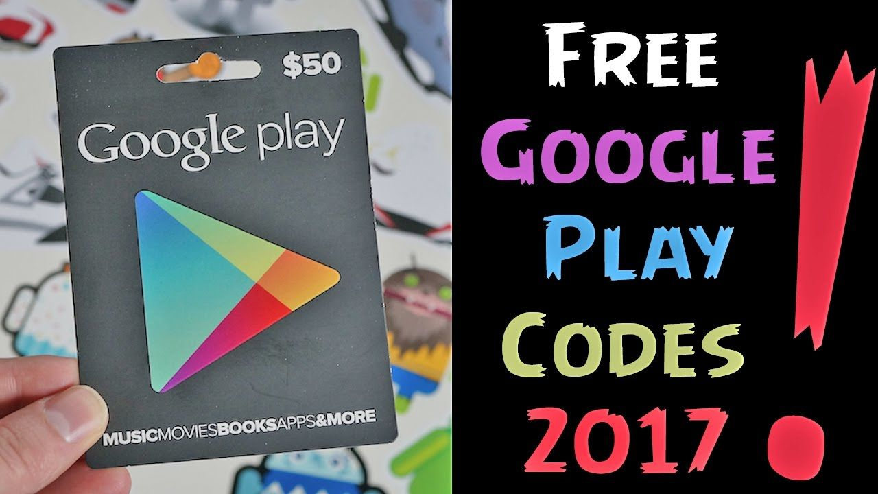 How to generate free google play redeem codes 2017 Free