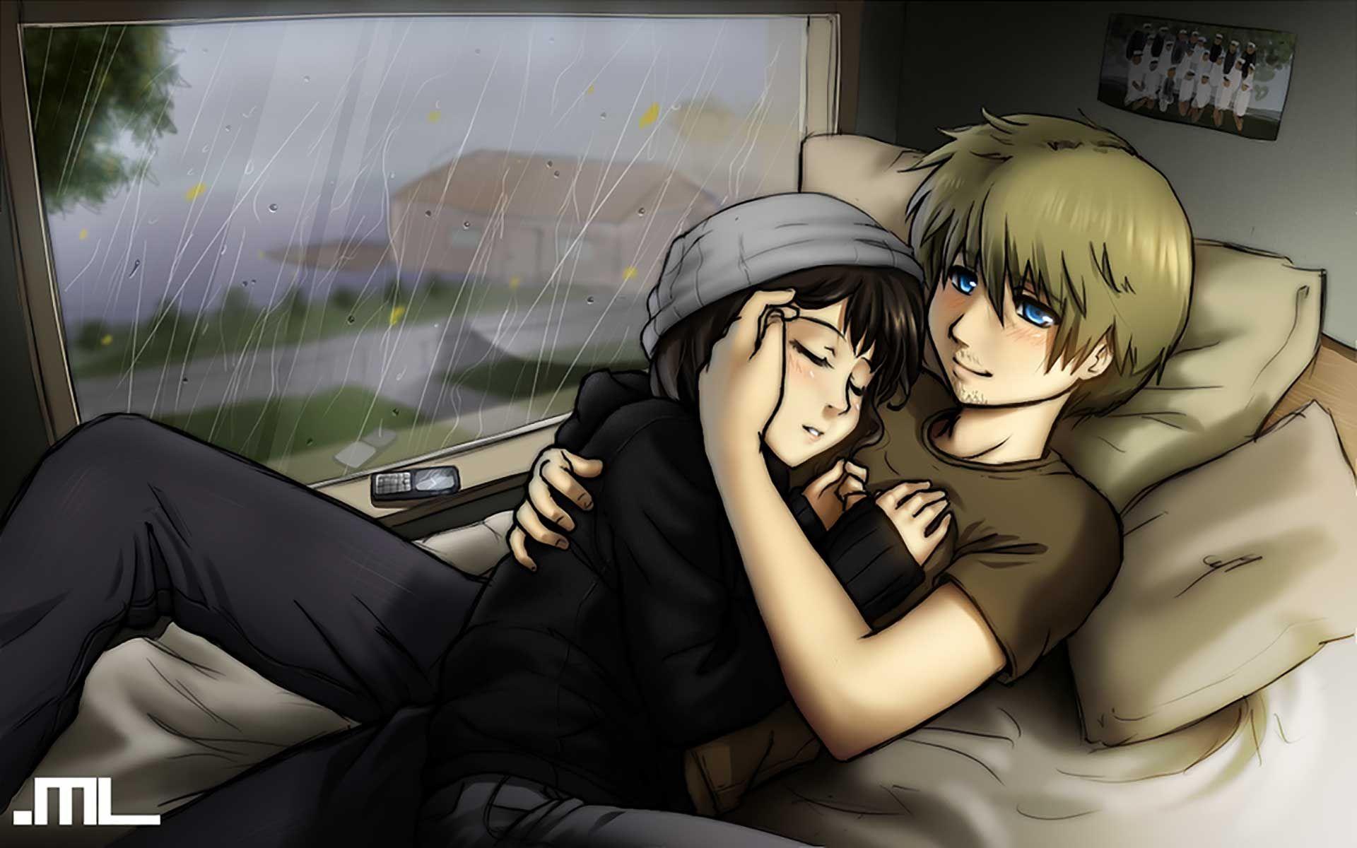 Cartoon boy alone pic sadever romantic couples anime wallpapers romantic wallpapers chobirdokan anime couples cuddling cute anime couples